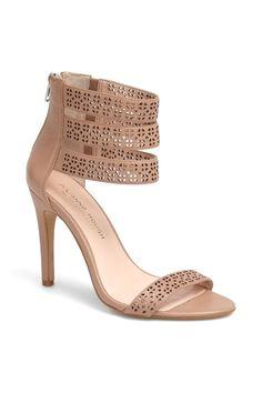 Embellished nude heels