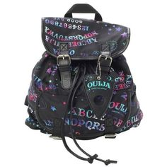 Ouija Galaxy Slouch Backpack | Hot Topic | $27.60 | school stuff! |... ❤ liked on Polyvore featuring bags, backpacks, planet bags, rucksack bags, slouch backpack, hot topic and daypack bag