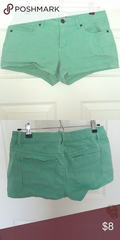 Mint green shorts Worn once dark mint green shorts Shorts