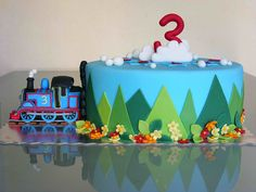 Thomas The Tank Engine cake by bubolinkata, via Flickr