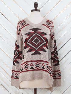 Everything Aztec Sweater