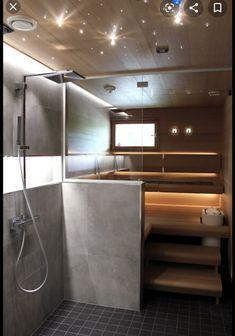 Laundry Room Bathroom, Bathroom Spa, Spa Interior, Bathroom Interior Design, Sauna Shower, Sauna Design, Home Spa, Contemporary Interior Design, Home Reno