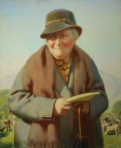 Beatrix Potter (1866–1943), in Old Age, by Delmar Harmood Banner ~ ca1938, National Trust collection