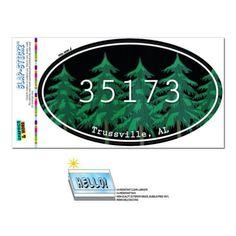 35173 Trussville, AL - Forest - Oval Zip Code Sticker