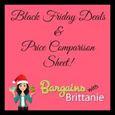 Black Friday Deals & Price Comparison Sheet!