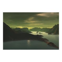 Customizable #3D#Landscape #Desktop #Fantasy #Green #Hd#Wallpapers #Lake #Landscape #Mountain #Night #Plamet #Sci#Fi #Sci#Fi#Mountain #Sci#Fi#Planet #Sea #Ultra#Hd#Wallpapers #Wall #Yelow Sci-fi Landscape Canvas Print available WorldWide on http://bit.ly/2gDSfiU
