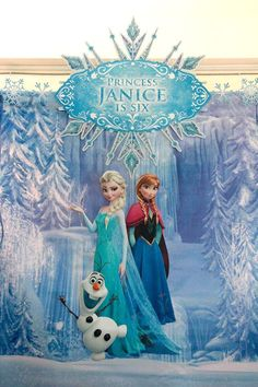 Disney's Frozen themed birthday party via Kara's Party Ideas! full of decorating ideas, dessert, cake, cupcakes, favors and more! KarasPartyIdeas.com #frozen #frozenparty #eventstyling #partydecor #partyideas (22)