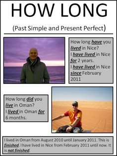 HOW LONG - Past Simple and Present Perfect 1-2