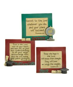 Graduation Proverb Plaque Set #zulily #zulilyfinds 10.99 WHAT A GREAT GIFT FOR A GRADUATE!!!