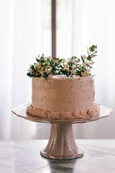 Buttermilk Cake with Strawberry Buttercream | the vanilla bean blog