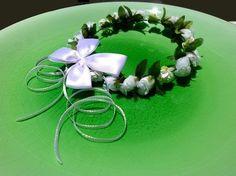 Coroa ROMANTIQUE 1 cor com laço borboleta - Momô Artesanatos