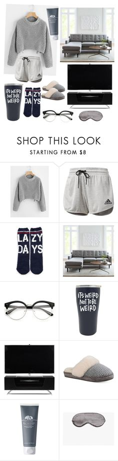 """Lazy Day #2"" by pjoyhdez ❤ liked on Polyvore featuring adidas, P.J. Salvage, West Elm, Alphason, UGG and Zara Home"
