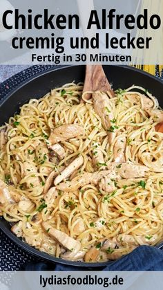 Pollo Alfredo, Chicken Alfredo, Pasta Alfredo, Healthy Dinner Recipes, Vegetarian Recipes, Dessert Recipes, Ground Beef Recipes, Family Meals, Food Inspiration