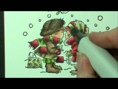 Quick Flicks Copic Colouring Beige, Gold & Green with Bev Rochester