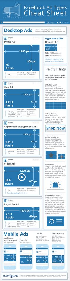 Infographic: Facebook ad types cheat sheet