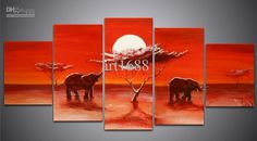 100% Handmade Landscape Oil Painting On Canvas Wall Art Home ...