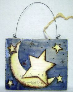 1000 images about crafts wood burning on pinterest for Moon and stars crafts