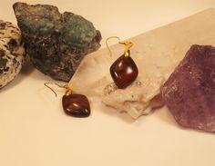 Beautiful San Jacinto Texas Red Jasper earrings. by NaturesOwnGems