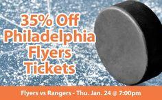 $70 (35% off) Philadelphia Flyers Tickets vs New York Rangers Thu. Jan. 24 @ 7:00pm - Crowd Seats Cheap Sports Tickets