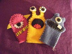 Monster Finger Puppets! Craft felt FUN! #fingerpuppets #puppets #children #toys