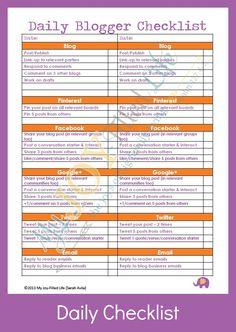 #FREE 2014 Blog Planner - #Blogging Resource