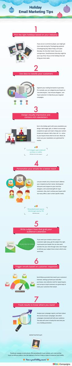 Holiday Email Marketing Tips #Infographic #EmailMarketing