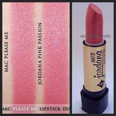 Mac please me vs jordana pink passion dupe