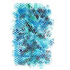 """Blue honey""  Fun with a honey comb stencil and blue paint. :)  #etsyca #handmade #makersgonnamake #etsyartist #MaritimeMakers #shoplocalhfx"