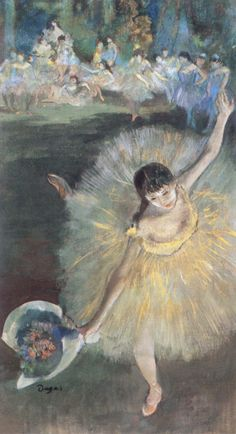 Fin d'Arabesque, ballerina Rosita Mauri (c. 1877). Edgar Degas (French, 1834-1917). Pastel, essence and oil on paper. Paris, Musée d'Orsay.