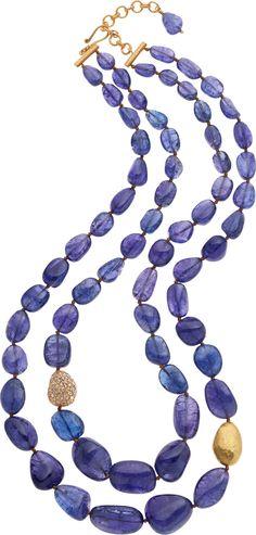 Yossi Harari Tanzanite, Diamond, Gold Necklace. ... Estate   Lot #64322   Heritage Auctions