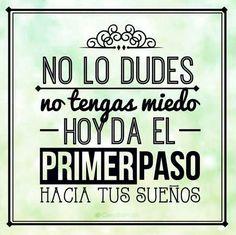 ❝ #FelizMartes – No lo dudes, no tengas miedo. Hoy da el primer paso... ❞ ↪ Puedes verlo en: www.proZesa.com