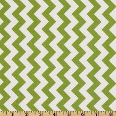 Riley Blake Chevron Small Green from @fabricdotcom  Designed by RBD Designers for Riley Blake Designs, this cotton print fabric is perfect for crafts, quilting, apparel and home décor accents. The chevron stripe is vertical to the selvedge. Colors include green and white.
