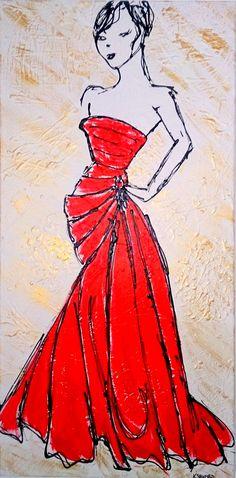 """READY TO GO *SOLD* Acrylic on canvas 46cmx91cm (18""""x36"""")"""
