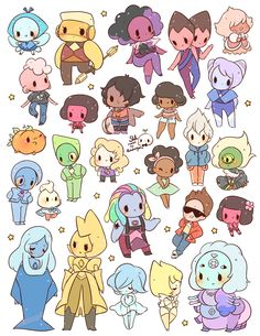 *NEW* steven universe - gem stickers