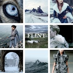 House Flint, Lords of Widows Watch, Flint's Finger, Breakstone Hill and Mountain Clans, Ever Vigilant The Flint's of Widows Watch are the most powerful of the Flints, they blazon their banner as a blue field strewn with whitecaps, on a yellow chief with crested line a pair of blue eyes.