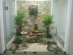 Modern Landscape Indoor Garden Jimbaran Bali Indonesia Residence