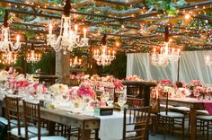 Rustic String Bistro Lights Wedding Decor Ideas / http://www.himisspuff.com/string-bistro-lights-wedding-ideas/11/