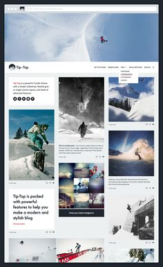 A top-quality theme for all kinds of blogs, with a great header slideshow and loads of advanced features. Tip-Top is a powerful Tumblr theme with a flexible grid or single column layout, sticky posts, an Instagram feed, drop-down tag menu and much more. #precrafted #tumblr #themes