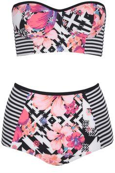 Debenhams Red Herring Fashion Targets Breast Cancer Bikini Top, £18 And Bottoms, £14
