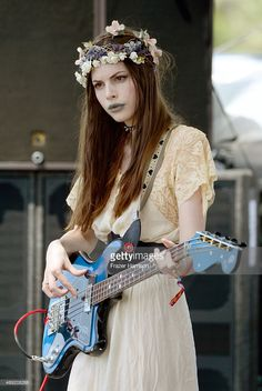 Musician Charlotte Kemp Muhl of The Ghost of a Saber Tooth Tiger performs onstage during day 1 of the 2015 Coachella Valley Music & Arts Festival (Weekend at the Empire Polo Club on April 2015 in Indio, California. Courtney Love, Melanie Martinez, Alex Turner, Kemp Muhl, Grunge, Guitar Girl, Female Guitarist, Beautiful Guitars, Girl Bands