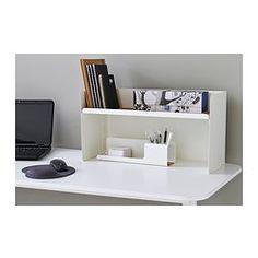 IKEA   BEKANT, Skrivbordshylla, Svart, , Monteras På Bordsskivorna BEKANT  Föru2026