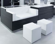 New Modern Black and White Kitchen Designs from KitcheConcept | DigsDigs