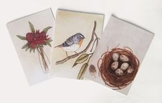 Greeting Card. Set of 3 A6 Blank Greeting by JenniferEmilyMagno