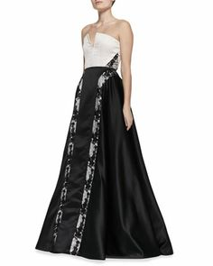 Dalya Embroidered-Stripe Ball Gown by Alice + Olivia at Neiman Marcus. $1154