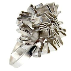 Sterling Silver Chevalier Ring / Pinky Ring / by emmanuelaGR