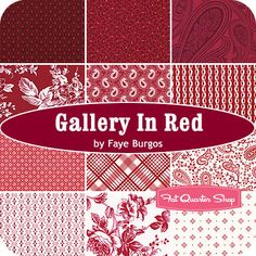 Gallery in Red Fat Quarter Bundle Faye Burgos for Marcus Brothers Fabrics - Fat Quarter Shop