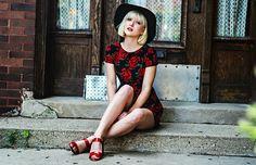 Red Roses BY OLIVIA T. on lookbook.nu-  Motel Rocks Dress, Gypsy Warrior Bag, Prada Heels