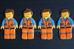 Lego Movie Cookies~                     Emmet - by The Royal Icing Queen, Orange