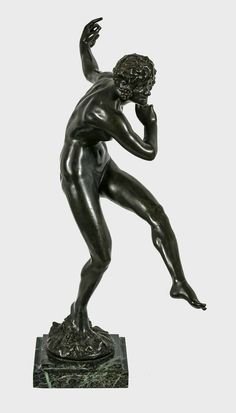 """GUIRAUD-RIVIERE Maurice (1881-1947) - """"Bacchae dancing"""" bronze sculpture from 1925, founder Etling Paris"""