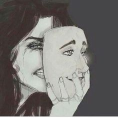 A mask is what makes us hurt, show us how you really are. Let your tears flow.